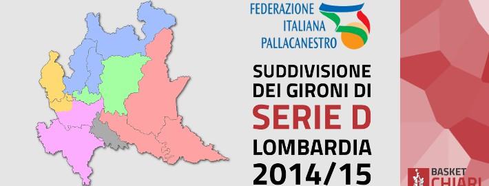 Gironi Serie D Lombardia 2014/2015 Basket