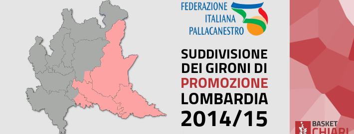Gironi Promozione Lombardia 2014/2015 Basket