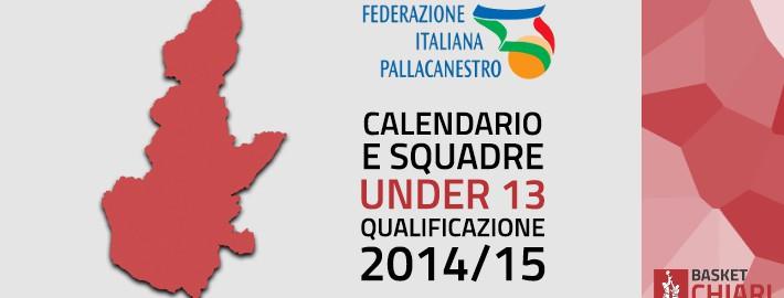 Calendario e Girone Under 13