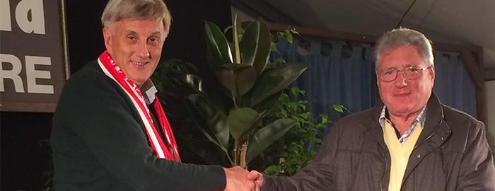 Pierluigi Marzorati e Vittorio Piceni, Presidente del Basket Chiari - Microeditoria 8 Novembre 2014