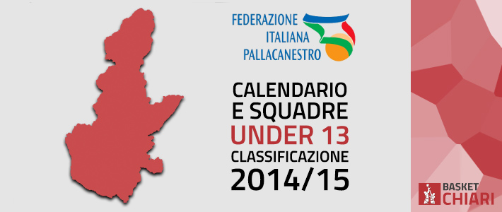 Calendario e Squadre seconda fase Under 13