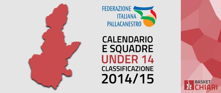 Calendario e Squadre seconda fase Under 14