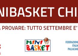 Minibasket Chiari: vieni a provare, Settembre è gratis!