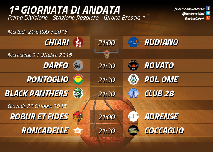 Prima Divisione - Giornata 1 (Definitiva) Girone Brescia 1