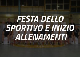 Festa dello Sportivo e Inizio Allenamenti